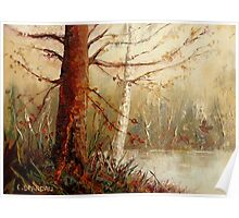 MOST POPULAR CANADIAN PAINTINGS AND PRINTS TREE AT RIVER'S EDGE CANADIAN ART Poster