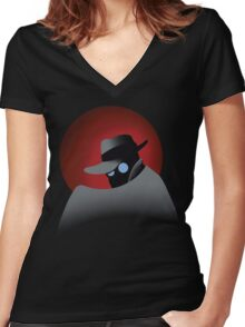 Beware the Gray Ghost!!! Women's Fitted V-Neck T-Shirt