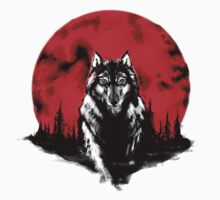 RED HOT MOON - Wolf by xrobertxdavisx