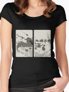Glitch Homes Alakol deco splatter diptych Women's Fitted Scoop T-Shirt