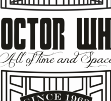 Doctor Who All the Time and Space Vintage Sticker