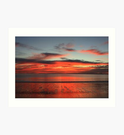 Reflections on the Sea and on the Sand Art Print