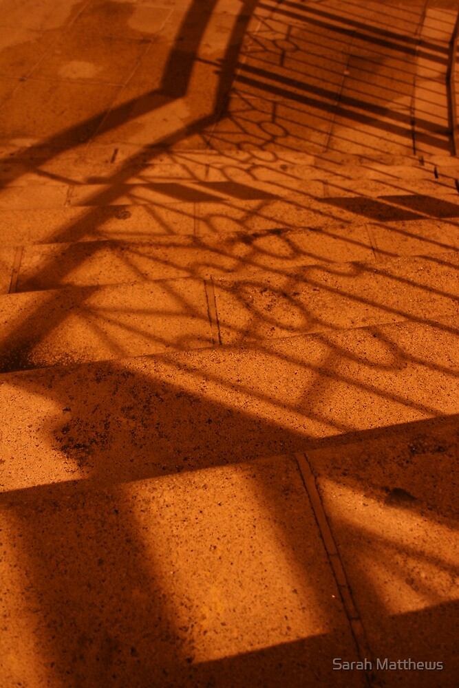Shadow Pattern On Steps by Sarah Matthews