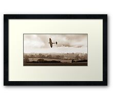 Eagle over England, sepia version Framed Print