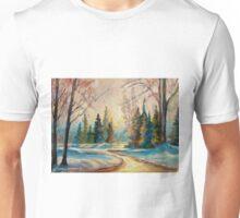 WINTER LANDSCAPE OF CANADA BY CANADIAN ARTIST CAROLE SPANDAU Unisex T-Shirt
