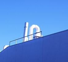 factory roof in morning light by mick8585
