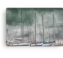 Marina Reflections Canvas Print