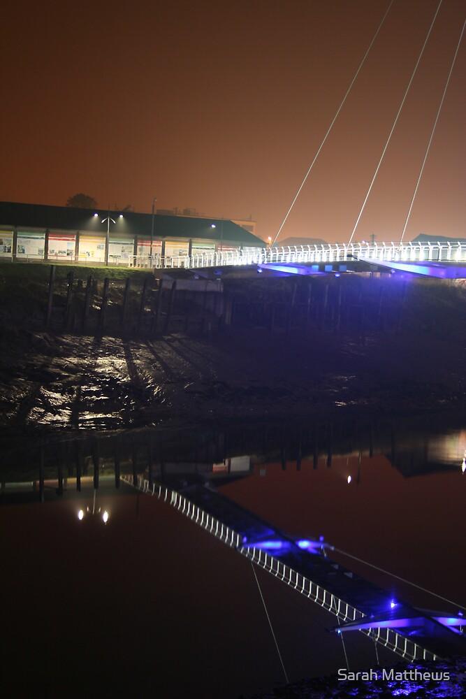 Newport, Bridge with Shadows by Sarah Matthews