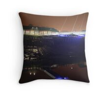 Newport, Bridge with Shadows Throw Pillow