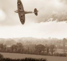 Eagle over England, sepia version Sticker
