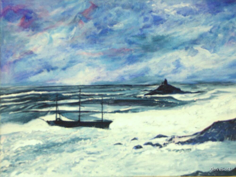 shipwreck at st michaels mount by davesart