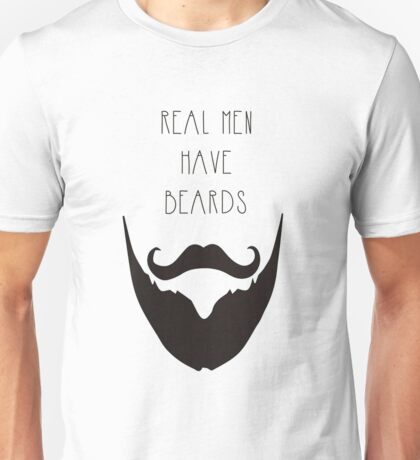 Real Men & Beards Unisex T-Shirt