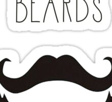 Real Men & Beards Sticker
