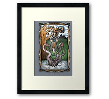 Luna's Haunting Trapeze Act Framed Print