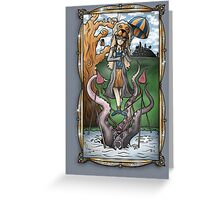 Luna's Haunting Trapeze Act Greeting Card