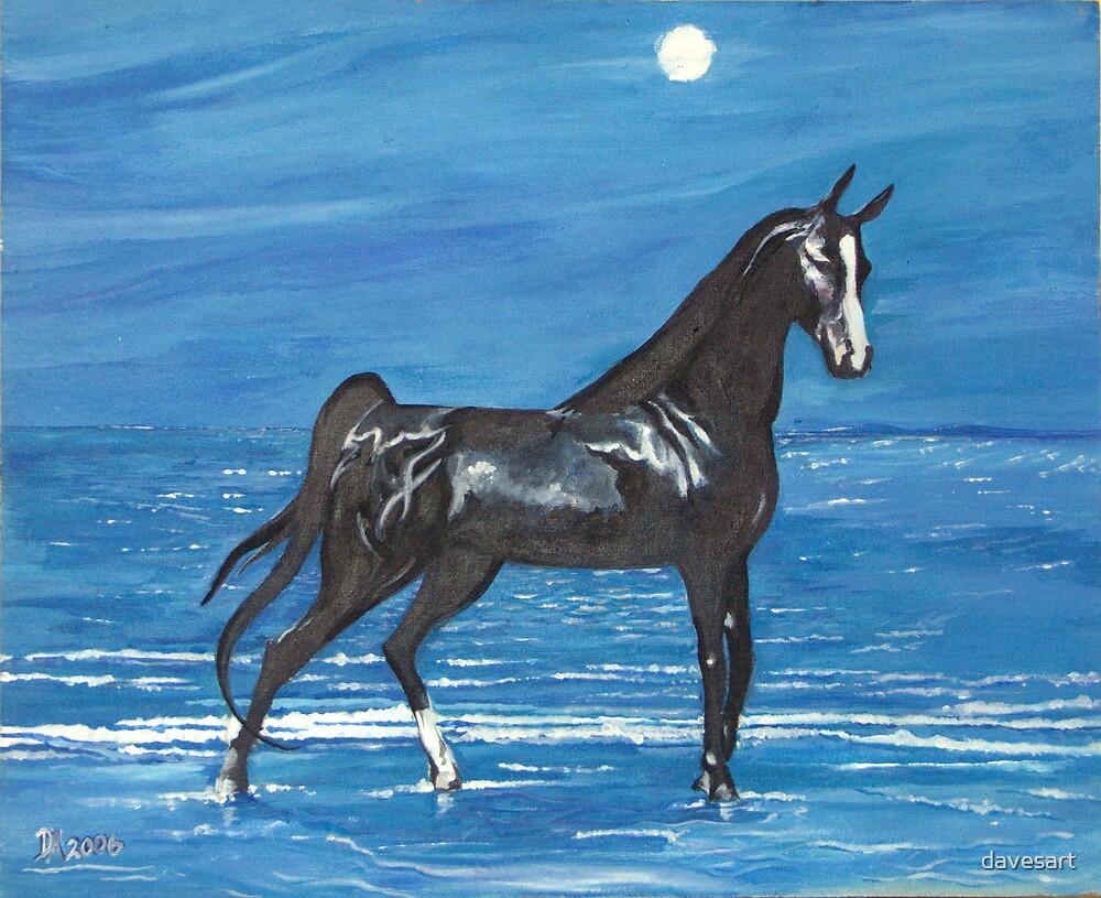 moonlight stallion by davesart