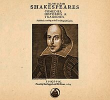 Shakespeare First Folio Front Piece by Incognita Enterprises