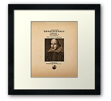 Shakespeare First Folio Front Piece Framed Print