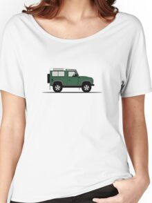 A Graphical Interpretation of the Defender 90 Station Wagon NAS Women's Relaxed Fit T-Shirt