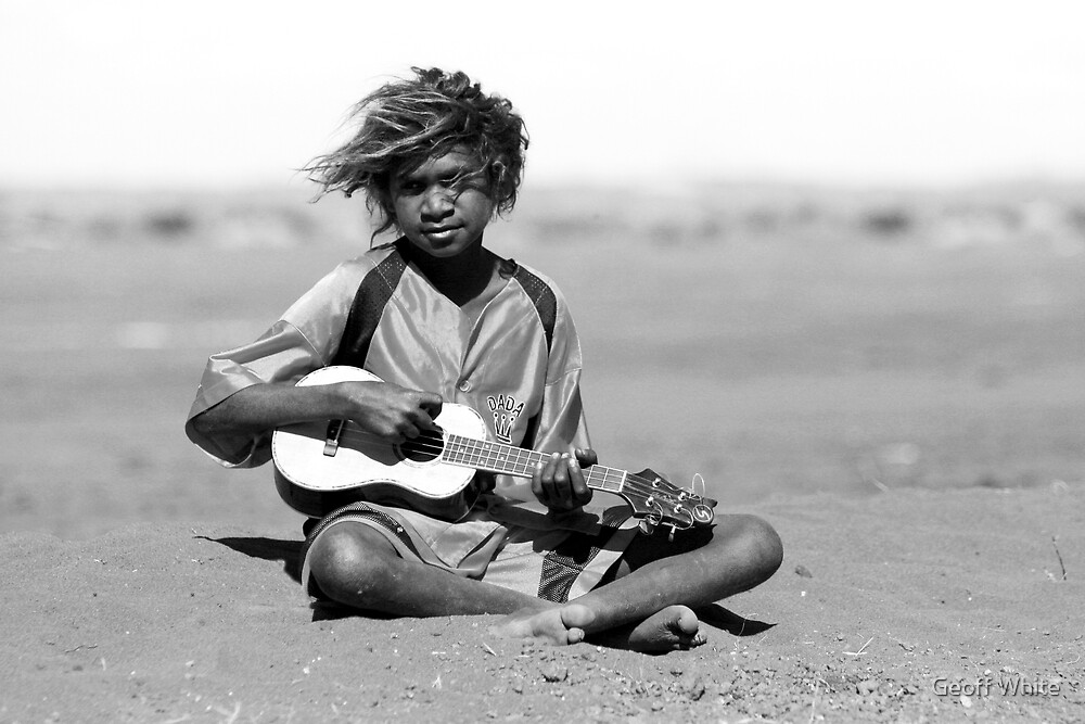Sidelined musician by Geoff White