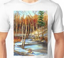 NEAR THE WINDING STREAM ARTISTS OF CANADA CANADIAN LANDSCAPE PAINTINGS Unisex T-Shirt