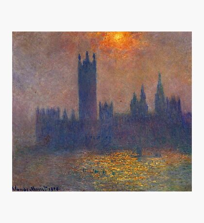 Claude Monet - Houses Of Parliament, Effect Of Sunlight In The Fog, 1904 Photographic Print