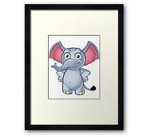 Elephant - Hands On Hips Framed Print