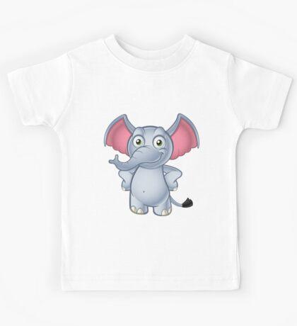 Elephant - Hands On Hips Kids Tee