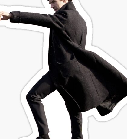 Pointing Sherlock Sticker