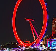London Eye Red by Jasna