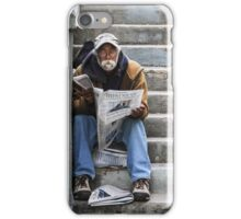 Catching Up On the News iPhone Case/Skin
