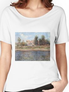 Claude Monet - La Berge De La Seine (Orillas Del Sena) 1880 - 1880 Women's Relaxed Fit T-Shirt