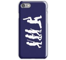 evolution of cricket white silhouette iPhone Case/Skin