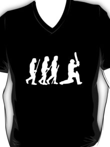 evolution of cricket white silhouette T-Shirt