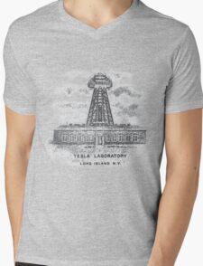 Tesla Lab Mens V-Neck T-Shirt