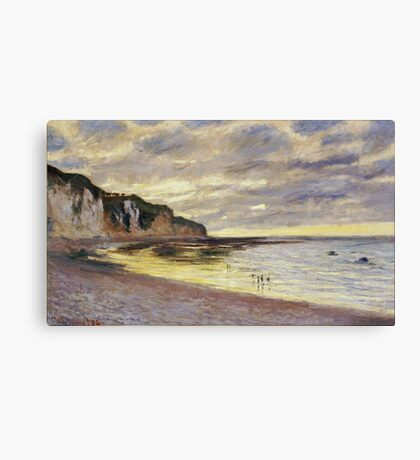 Claude Monet - Lally Point, Low Tide, 1882 Canvas Print