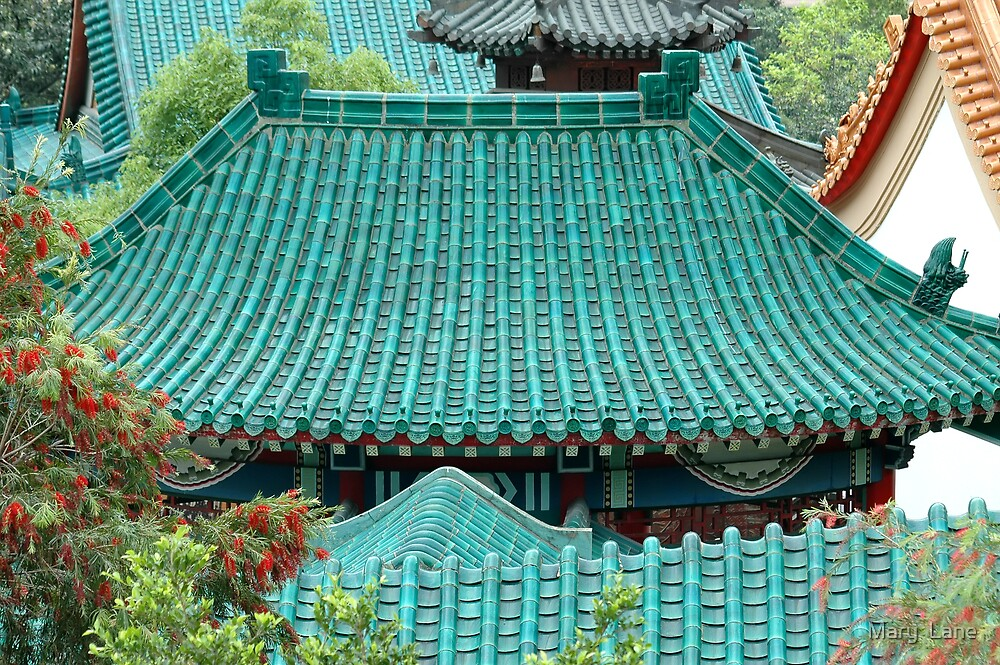 Temple Roof by Mary  Lane