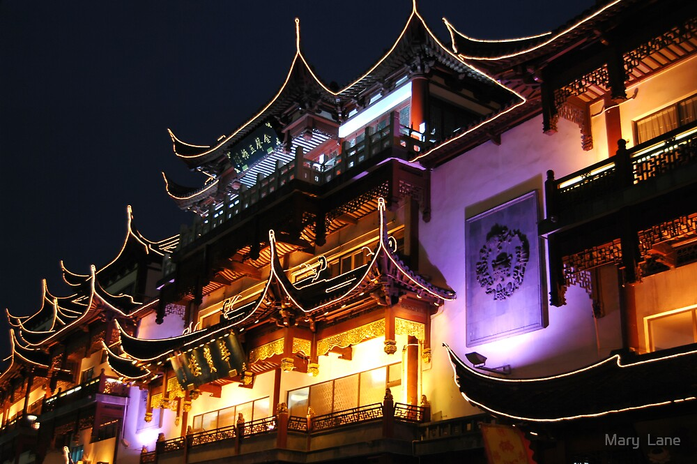 Night in Old Shanghai by Mary  Lane
