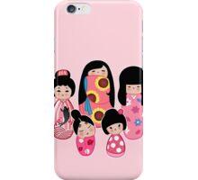 Kokeshi in Pink iPhone Case/Skin