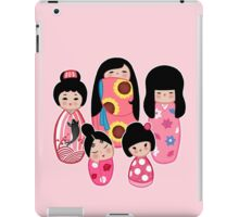 Kokeshi in Pink iPad Case/Skin