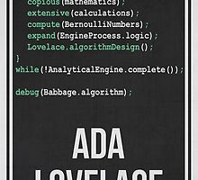 ADA LOVELACE - Women in Science Collection by Hydrogene
