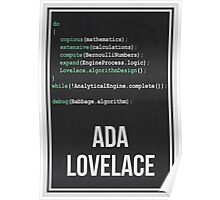 ADA LOVELACE - Women in Science Collection Poster