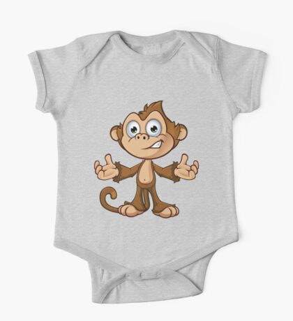 Cheeky Monkey - Confused One Piece - Short Sleeve