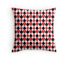 French Suits Throw Pillow
