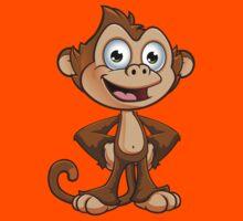 Cheeky Monkey - Hands On Hips Kids Tee