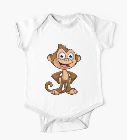 Cheeky Monkey - Hands On Hips One Piece - Short Sleeve