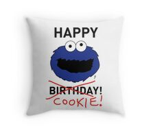 COOKIE MONSTER BIRTHDAY CARD Throw Pillow