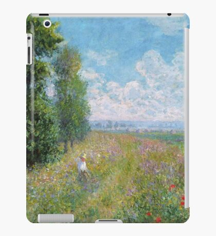 Claude Monet - Meadow With Poplars iPad Case/Skin