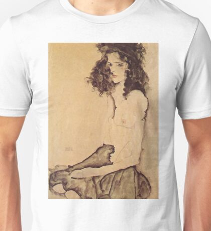 Egon Schiele - Girl In Black 1911 Unisex T-Shirt