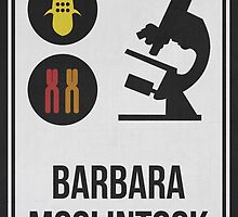 BARBARA MCCLINTOCK - Women in Science Collection by Hydrogene